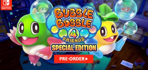 Bubble Bobble 4 Friends switch, nintendo switch, europe, release date, gameplay, features, price,pre-order, taito, inin games, special edition