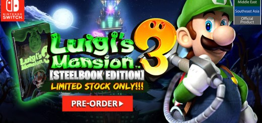 LUIGI'S MANSION 3 [STEELBOOK EDITION] (MDE), Nintendo switch, asia, news, latest
