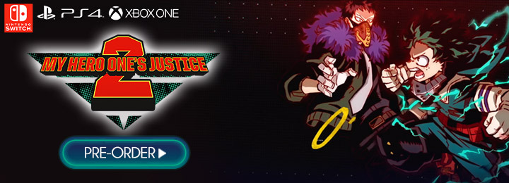 My Hero One's Justice 2, My Hero One's Justice, My Hero Academia, Boku no Hero Academia, PS4, PlayStation 4, Xbox One, XONE, Nintendo Switch, Switch, Pre-order, Bandai Namco Entertainment, Bandai Namco, Boku no Hero Academia: One's Justice 2, characters, update, Japan, Asia, features, gameplay, trailer, screenshots, update