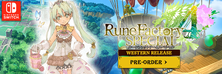 Rune Factory 4 Special, Nintendo Switch, Switch, US, Western release, localization, Pre-order, XSEED Games