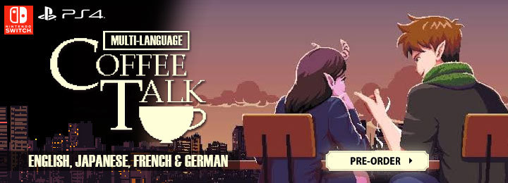 Coffee Talk, Multi-Language, Japan, Japanese, English, PS4, PlayStation 4, Switch, Nintendo Switch, physical, Chorus Worldwide, release date, gameplay, features, price, pre-order