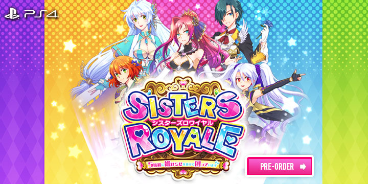 sisters royale, sisters royale: I'm being harassed by 5 sisters and it sucks, ps4, playstation 4,japan, release date, gameplay, features, price, pre-order now, alfa system, chorus worldwide