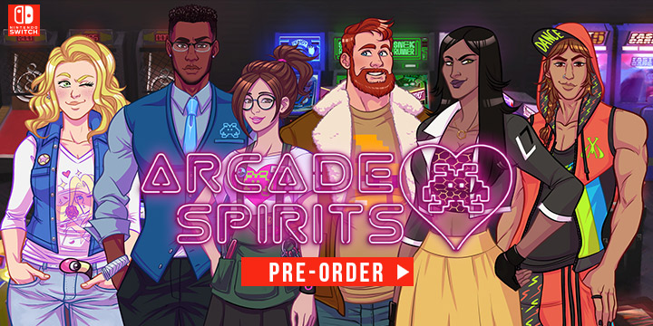 Arcade Spirits, switch, nintendo switch, PQube, Fiction Factory Games, release date, features,price,pre-order now,Europe, trailer