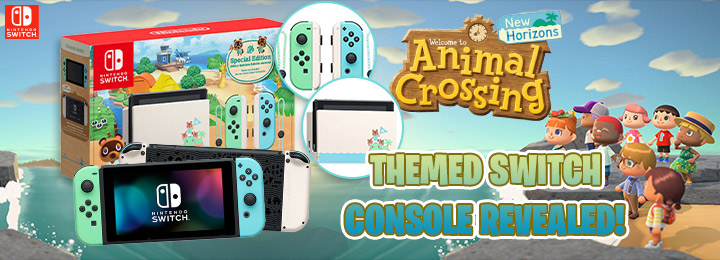 Animal Crossing New Horizons Themed Nintendo Switch Console