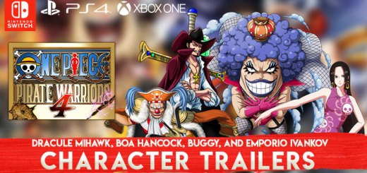 One Piece: Pirate Warriors 4, One Piece, Bandai Namco, PS4, Switch, PlayStation 4, Nintendo Switch, Asia, Pre-order, One Piece: Kaizoku Musou 4, Pirate Warriors 4, Japan, US, Europe, trailer, update, features, release date, screenshots, trailer, Dracule Mihawk, Boa Hancock, Buggy, Emporio Ivankov