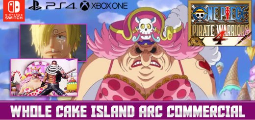One Piece: Pirate Warriors 4, One Piece, Bandai Namco, PS4, Switch, PlayStation 4, Nintendo Switch, Asia, Pre-order, One Piece: Kaizoku Musou 4, Pirate Warriors 4, Japan, US, Europe, trailer, update, features, release date, screenshots, TV Commercial, Japanese TV Commercial, PV, Whole Cake Island arc