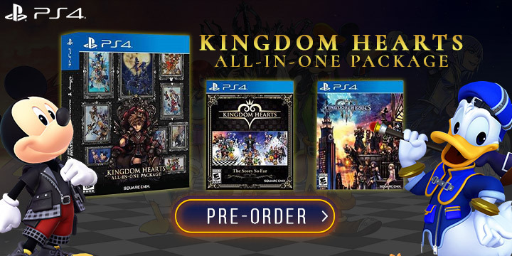 Kingdom Hearts: All-in-One Package, Kingdom Hearts, Kingdom Hearts II Final Mix, Kingdom Hearts II, Kingdom Hearts Final Max, Kingdom Hearts Re:Chain of Memories, Kingdom Hearts 358/2 Days, Kingdom Hearts Re:coded, Kingdom Hearts Birth by Sleep Final Maix, Kingdom Hearts Dream Drop Distance HD, Kingdom Hearts χ Back Cover, Kingdom Herats 0.2 Birth by Sleep, US, PlayStation 4, PS4, Square Enix, pre-order, gameplay, features, release date, price, trailer, screenshots