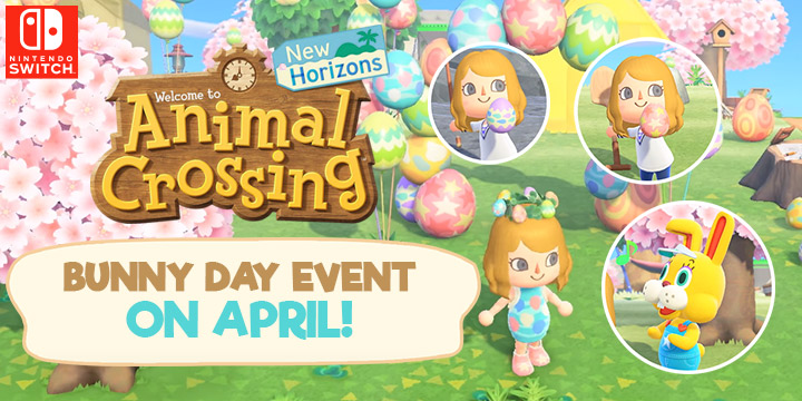 Animal Crossing, Animal Crossing: New Horizons, US, North America, Europe, Japan, gameplay, features, price, buy now, Nintendo, trailer, news, update, Switch, Nintendo Switch, Bunny Day, Easter event, Earth Day, April update