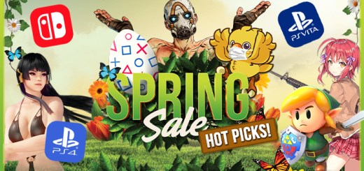 Sale, Switch, Nintendo Switch, PS Vita, PlayStation VITA, PlayStation 4, PS4, Spring sale, discount, games, video games