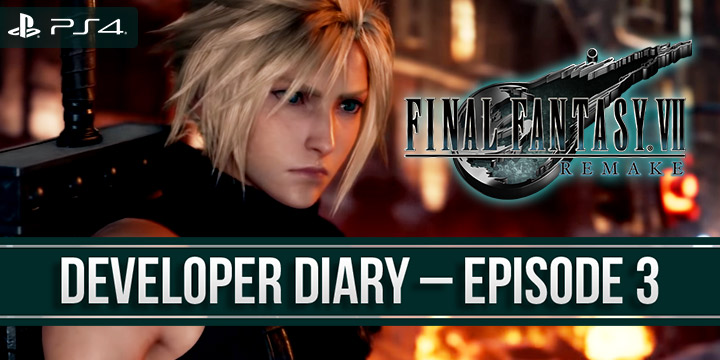 FF7, Final Fantasy 7 Remake, FF 7 Remake, Final Fantasy, Final Fantasy VII Remake, Square Enix, PS4, PlayStation 4, release date, gameplay, features, price, pre-order, Japan, Europe, US, North America, Australia, developer diary, Episode 3, combat, actions