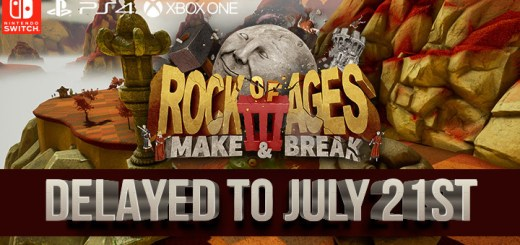 Rock of Ages 3: Make & Break ps4, playstation 4, switch, nintendo switch, xone, xbox one,us, north america, europe, release date, gameplay, features, price, modus games, delayed, update