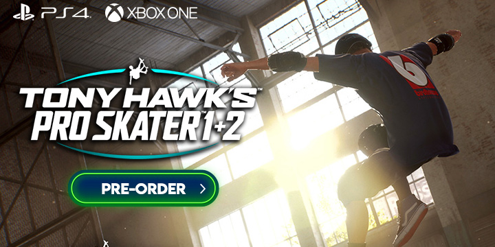 Tony Hawk's Pro Skater Remaster, Tony Hawk's Pro Skater 1 + 2, Tony Hawk's 1 and 2, Activision, Vicarious Visions, Release date, Gameplay, US, North America, Europe, features, PS4, Playstation 4, Xbox One, XONE, trailer, screenshots