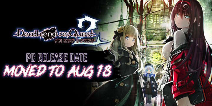 Death end re;Quest 2, Death end re;Quest, Death end Request 2, Death end re Quest 2, PlayStation 4, PS4, Japan, Pre-order, Compile Heart, Limited Edition, gameplay, features, release date, trailer, screenshots, Western release, West, US, Europe, PC Release Date Moved, New PC Release Date