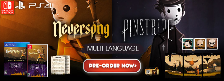 Neversong, Pinstripe, Neversong & Pinstripe, Neversong and Pinstripe, Multi-language, Neversong & Pinstripe (Multi-Language), PS4, PlayStation 4, Beep Japan, Atmos Games, Nintendo Switch, Japan, release date, features, price, pre-order now, trailer, Screenshots