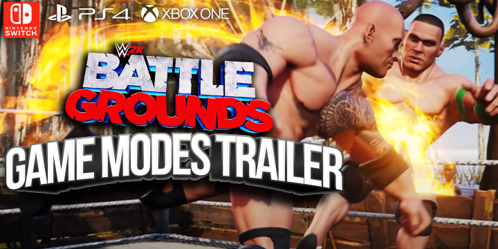 WWE, World Wrestling Entertainment, WWE 2K Battlegrounds, 2K Games, PlayStation 4, Xbox One, PS4, XONE, US, gameplay, features, release date, price, trailer, screenshots, Game Modes Trailer, Wild Game Modes, update