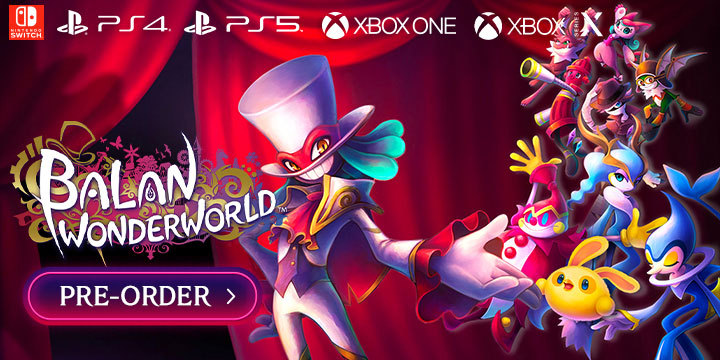 Balan Wonderworld, PlayStation 5, PlayStation 4, Xbox One, Xbox Series X, Nintendo Switch, Switch, PS5, PS4, XONE, XSX, US, Europe, Japan, Square Enix, gameplay, features, release date, price, trailer, screenshots