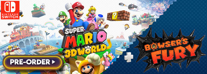 Super Mario 3D World, Bowser's Fury, Super Mario 3D World + Bowser's Fury, Nintendo Switch, Switch, Japan, US, Europe, gameplay, features, release date, price, trailer, screenshots, Nintendo, Mario, Super Mario
