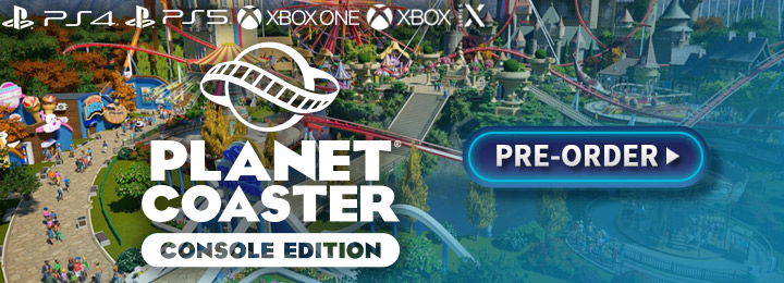 Planet Coaster, Planet Coaster Console Edition, Planet Coaster [Console Edition], XONE, Xbox One, PS4, Xbox Series X, PS5, PlayStation 5, PlayStation 4, EU, Europe, Gameplay, Features, price, pre-order now, trailer, screenshots, Frontier Developments