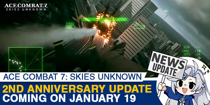 Ace Combat 7: Skies Unknown, Bandai Namco, PlayStation 4, PlayStation VR, Xbox One, PS4, PSVR, XONE, US, Europe, Japan, update, 2nd Anniversary, sales