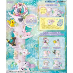 POKEMON ATSUMETE! KASANETE! POKEMON FOREST 6 MYSTERY SHINE PLACE (SET OF 6 PACKS) Re-ment