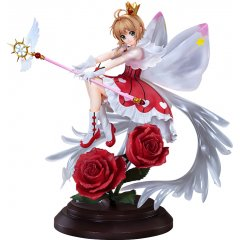 CARDCAPTOR SAKURA CLEAR CARD 1/7 SCALE PRE-PAINTED FIGURE: SAKURA KINOMOTO ROCKET BEAT VER. Wing