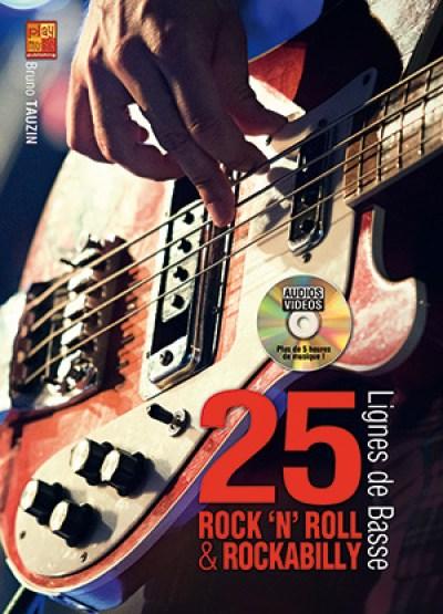 25 Lignes de Basse Rock 'n' Roll, Rockabilly, cours de basse, méthode, tablature, débutant, bassiste, apprendre, tuto basse, methode