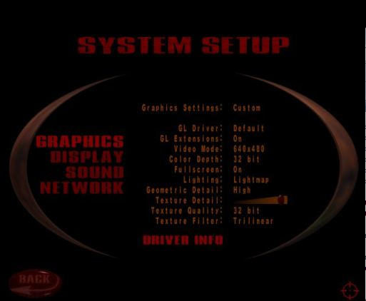 Quake 3 graphical settings options
