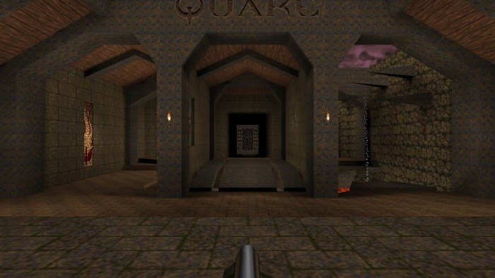The opening chamber in ProQuake, in 1080p.