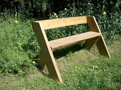 Make Aldo Leopold's Bench for your Natural Playscape - Playscapes