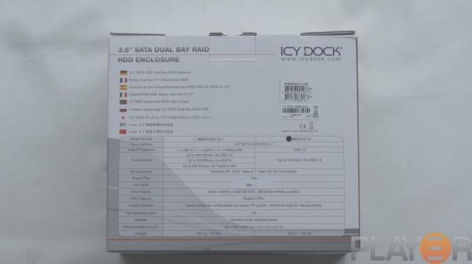 Icy Dock MB662U3-2S Box Back