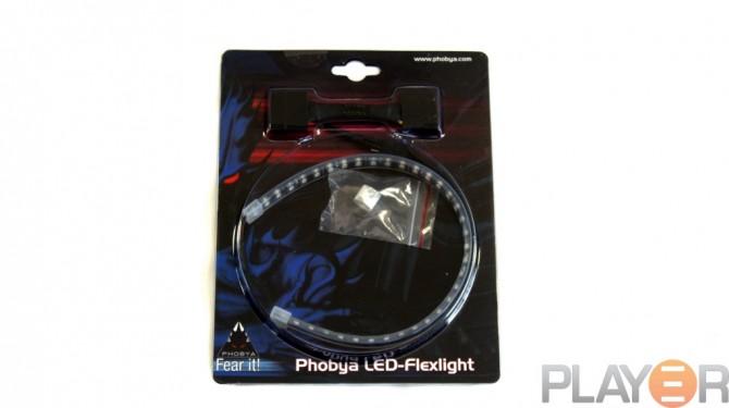 Phobya 30cm Blue LED-flexlight Packaging Front