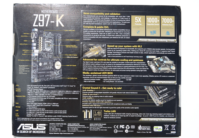 ASUS Z97-K pack back
