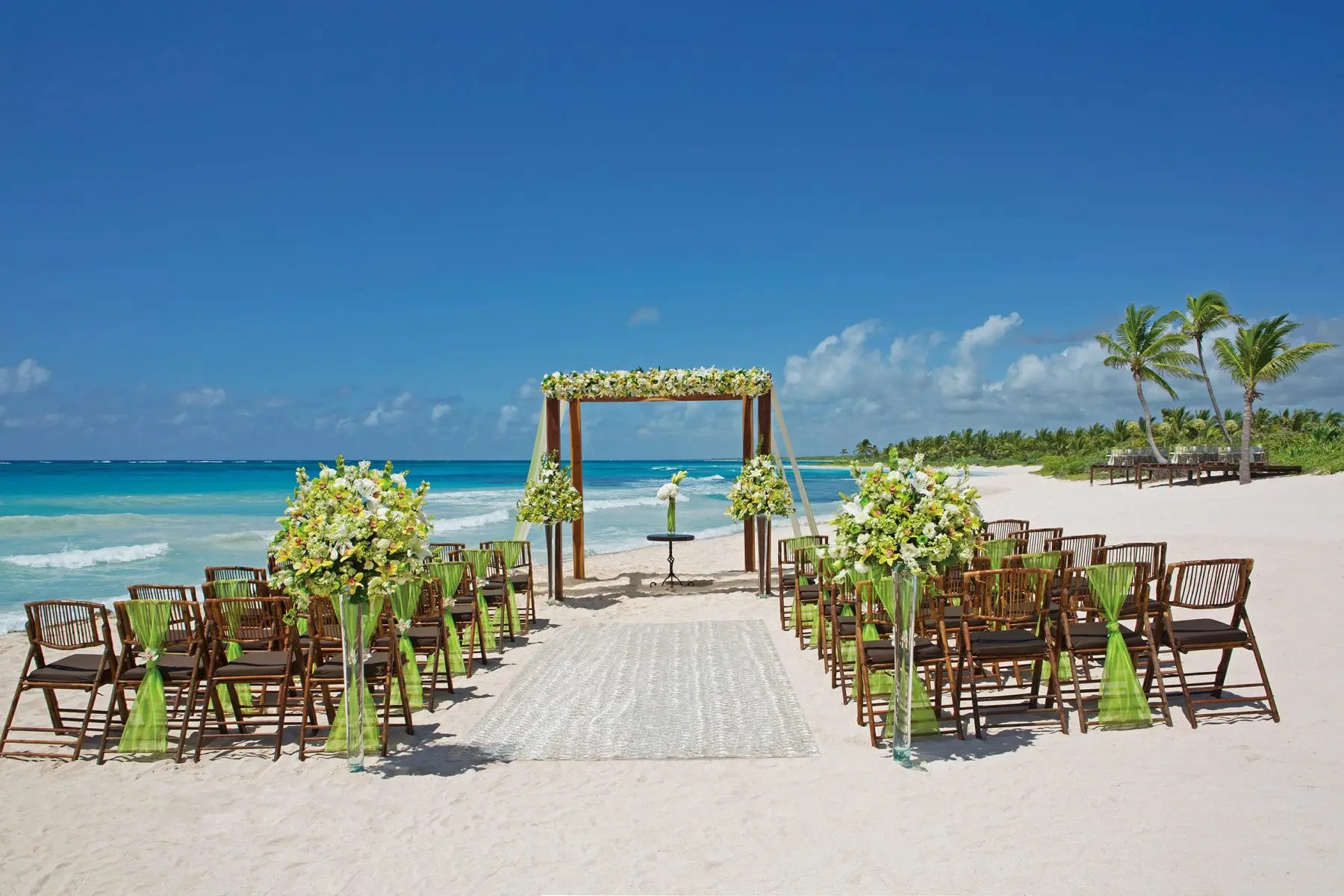 Wedding ceremony set up at the dream riviera tulum hotel and resort