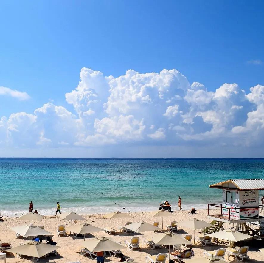 Mamitas Beach in Playa del Carmen