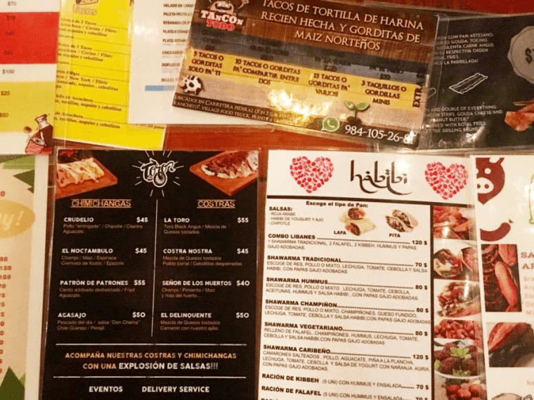 Menus at Mi Ranchito Playero Food Truck Village