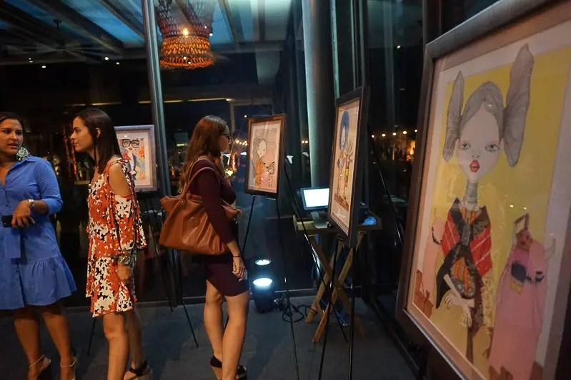 Exhibition of the works of Charles Hart-Benton at Andaz Salon, Playa del Carmen