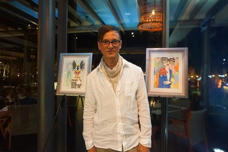 Fashion Illustrator Charles Hart-Benton in Playa del Carmen