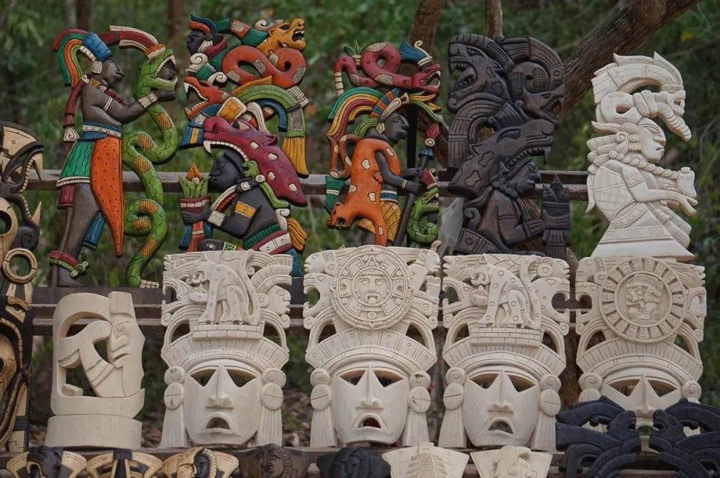 Chichen Itza masks