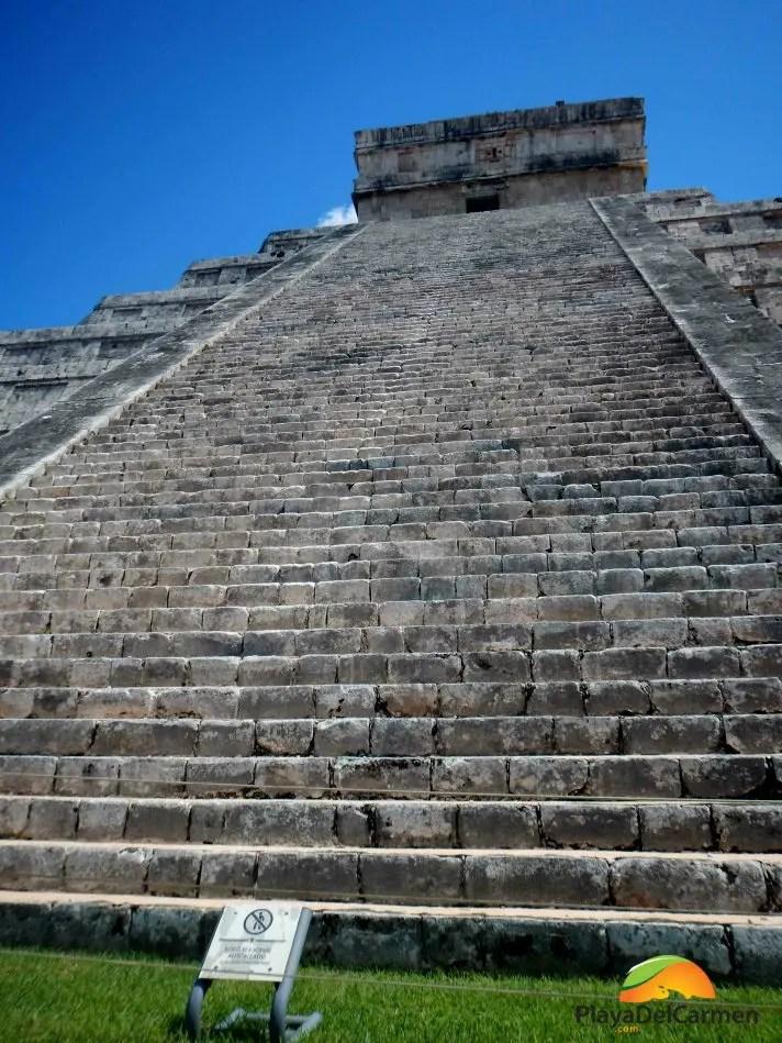 Kukulkan Pyramid at Chichen Itza in the Yucatan Peninsula