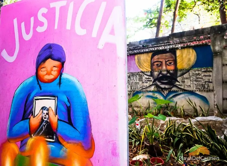 Art murals Playa del Carmen - El Jardin de Todas