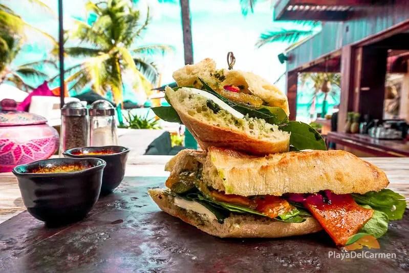Sandwich at inti beach club