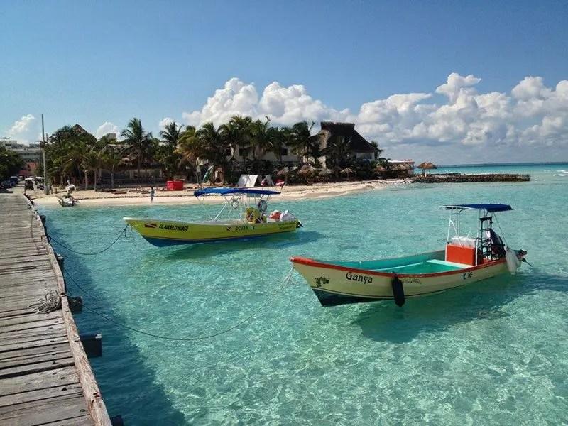 Boats at isla mujeres