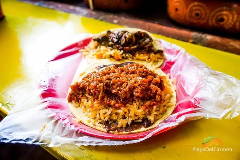 Mexican street food - tacos de guisado