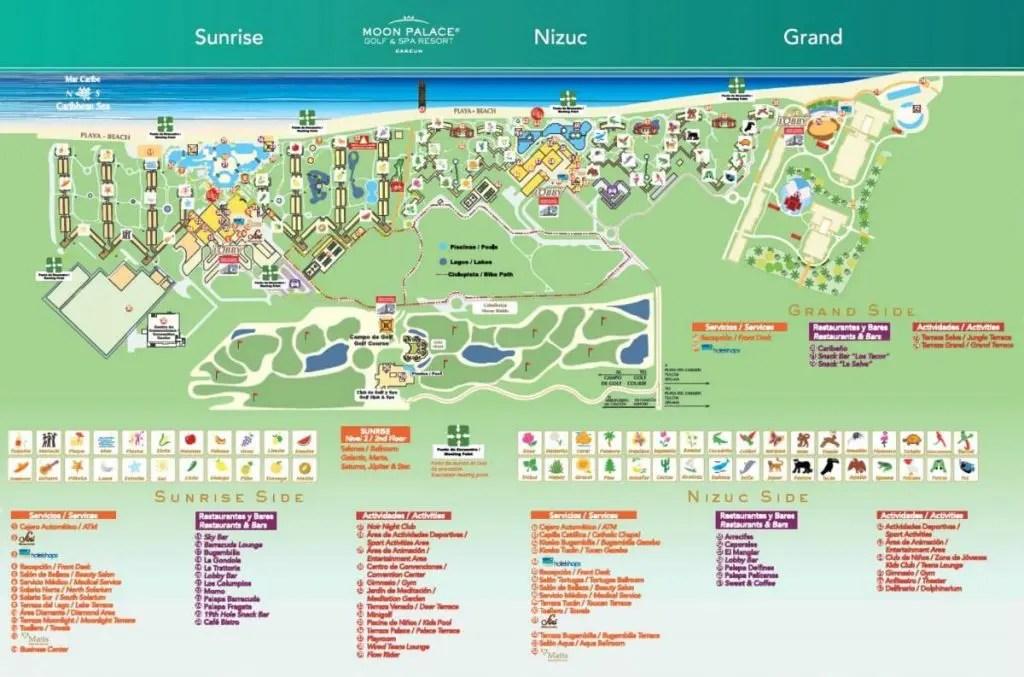 moon palace resort map