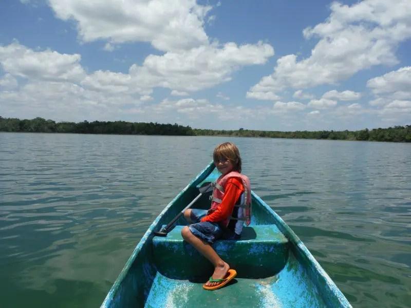 Canoeing at punta laguna