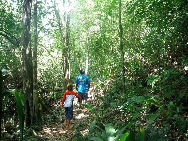 Hiking at punta laguna