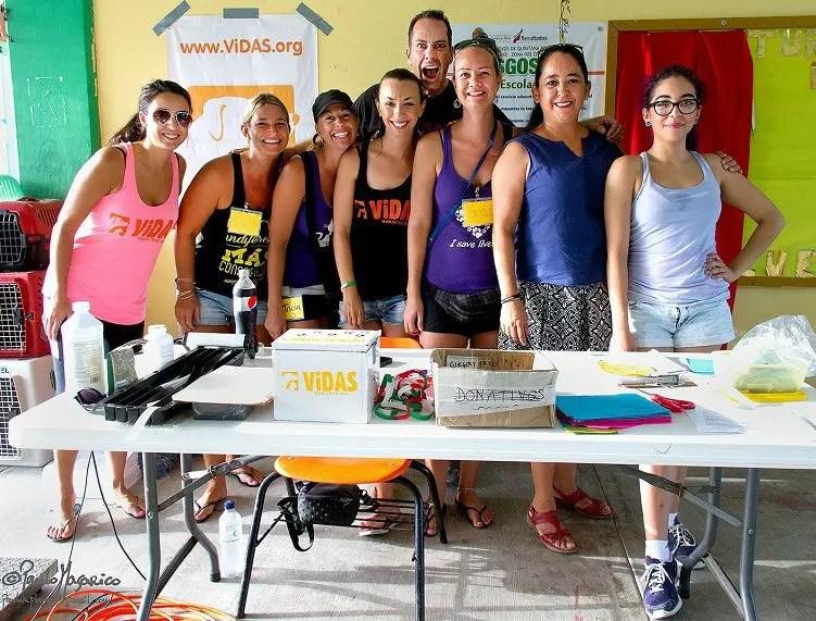 Volunteers at ViDAS