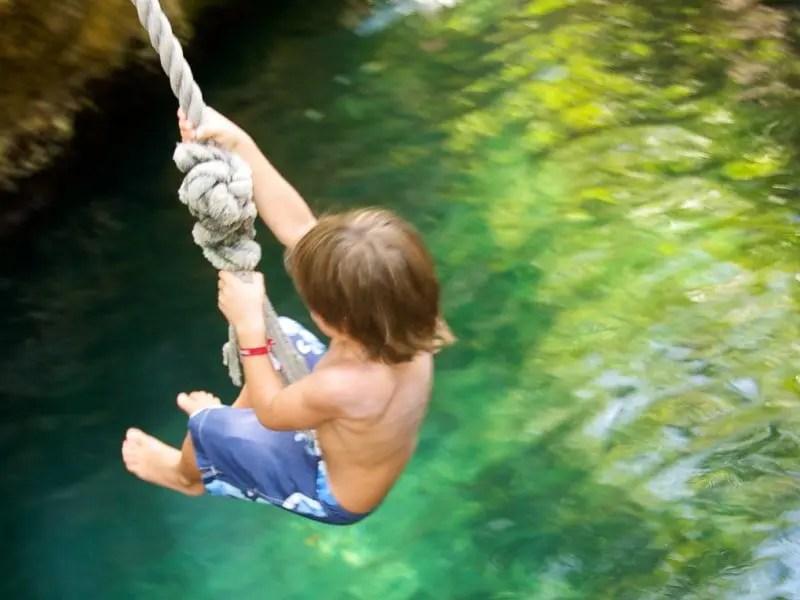 Xel-Ha rope swing