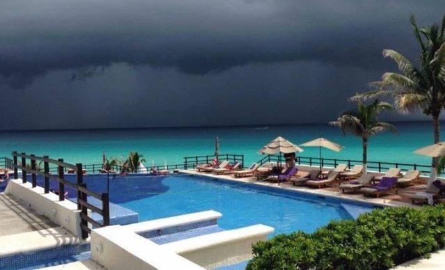 Skies of Playa del Carmen and Tropical Storm Earl