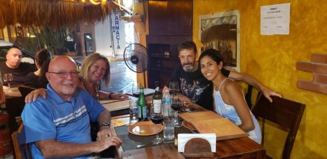 Marcela and Laura in Romeo Restaurant